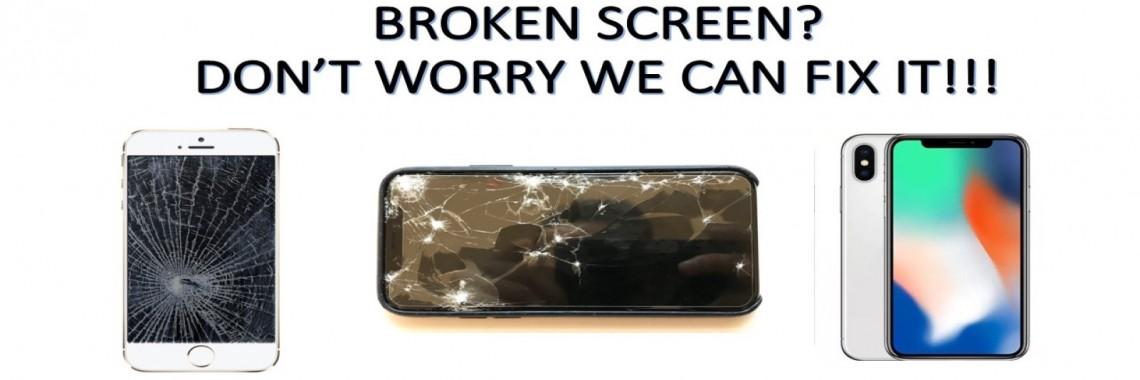 broken screen banner